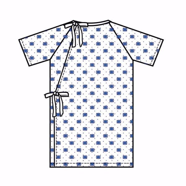 Patient Gown Angle Back with Ties & Snaps (Price/Dozen)