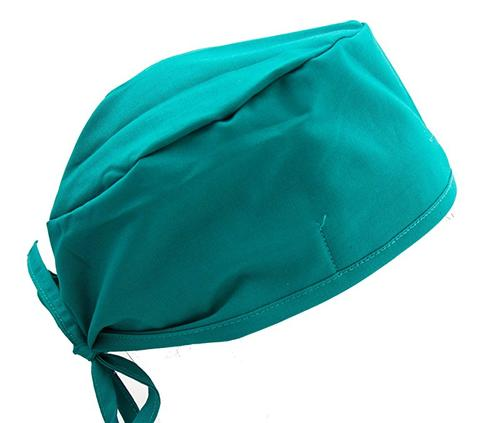 Solid Blue Green Teal Hospital Surgical Scrub Cap Hat