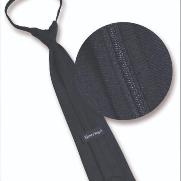Black zipper tie
