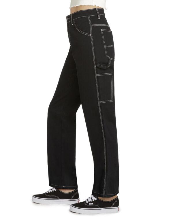 Dickies Girl Juniors' Relaxed Fit Carpenter Pants, Black