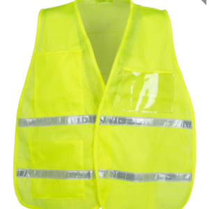 YELLOW/LIME MESH INCIDENT COMMAND VEST
