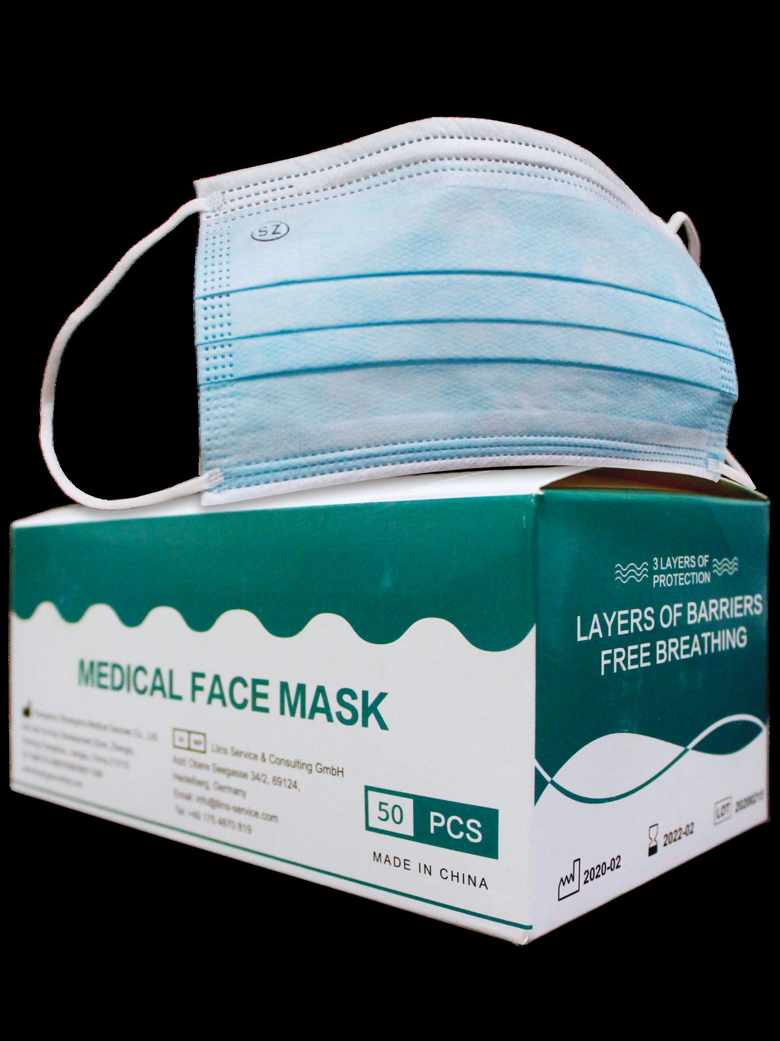 Box of 50 Medical Face Masks