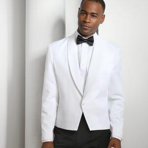 Men's White Eton Jacket 5006C
